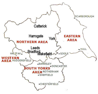 Outine map of Yorkshire Region