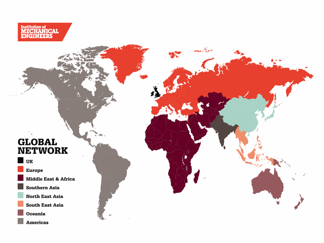 IMechE map of the world