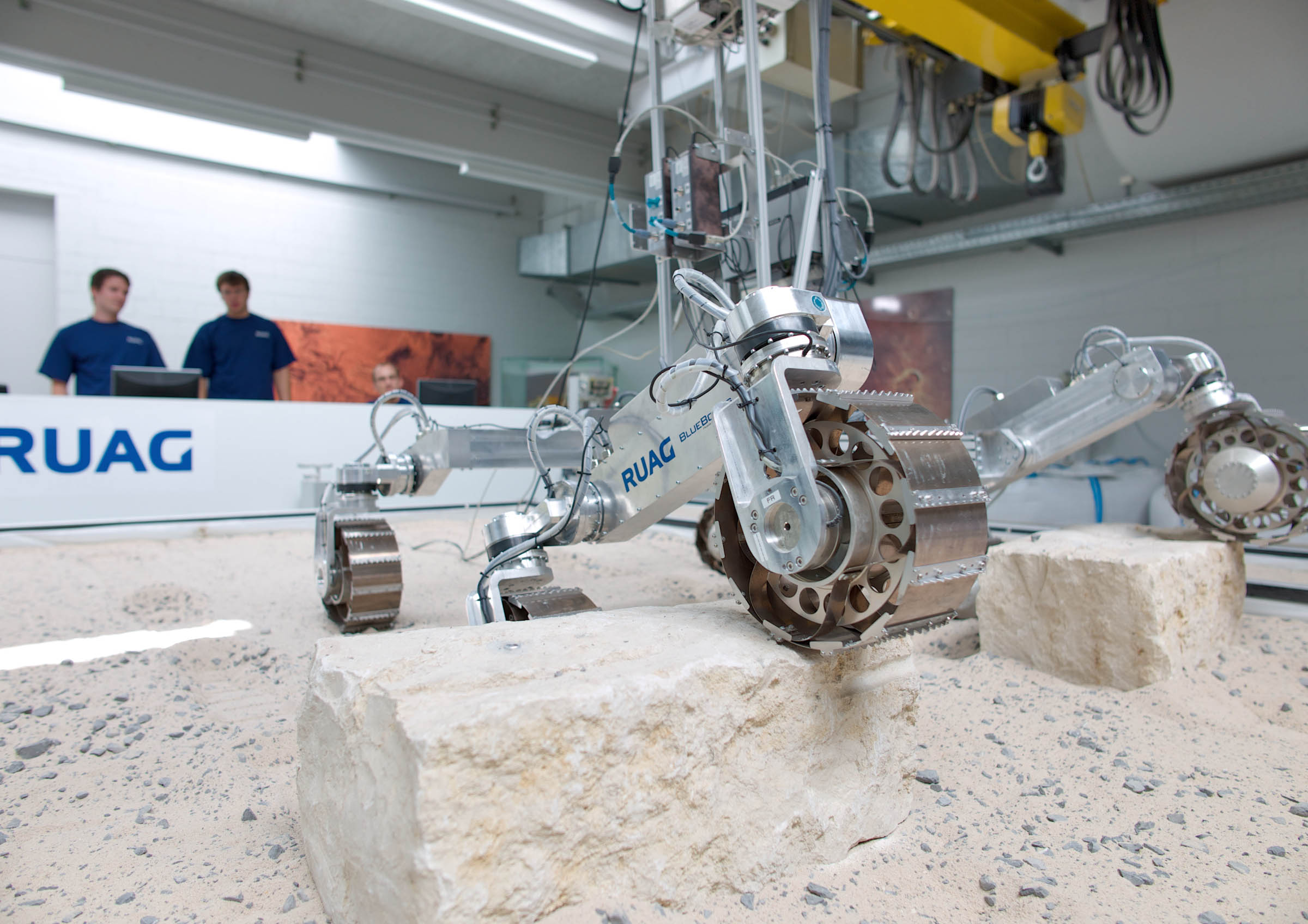 Ruag Space Employees Test The Exomars Rover Locomotion System In